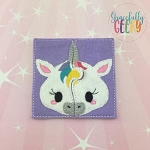 Unicorn Toddler 4x4 Hoop Puzzle Embroidery Design